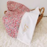 Couverture Liberty Wiltshire rose personnalisable